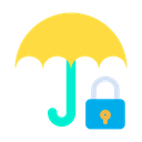 Lock Umbrella Icon