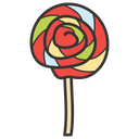 Spiral Lolly Lolly Rainbow Lolly Icon