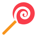 Lollipop Food Candy Icon