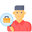 Looking For Job Employee Search Find Employee Icon