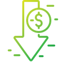 Loss Cost Money Icon