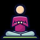 Gomukhasana Pose Yoga Pose Icon