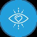 Love Eye Heart Icon