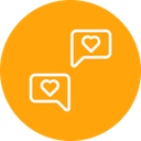 Love Chat Message Icon