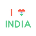 Love India Heart Icon