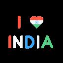 Love India Heart Icon