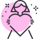 Daughter Day Heart Icon