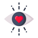Love Eye Heart Icon