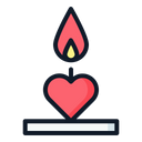 Candle Decoration Love Icon