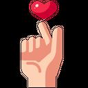 Love Care Favorite Finger Icon