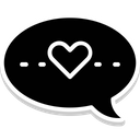 Loving Chat Chat Heart Icon