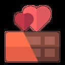 Chocolate Heart Valentine Icon
