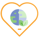 Love Earth Love Ecology Planet Icon
