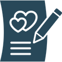 Love Article Inspiration Writing Icon