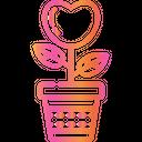 Love Plant Plant Pot Valentines Day Icon