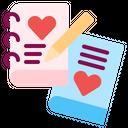 Love Story Book Romance Icon
