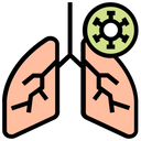 Lungs In Virus Icon