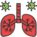 A Lungs Lungs Infection Virus In Lungs Icon