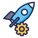 Machine Space Science Icon