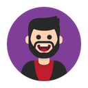 Man Beard People Icon
