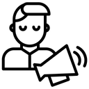Man Announcement Icon