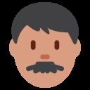 Man Medium Dark Icon