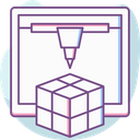 Manufacturing Cube Device Icon