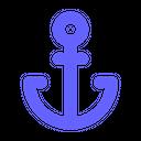 Marine Nautical Anchor Icon