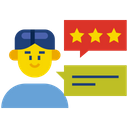 Market Review Feedback Customer Satisfaction Icon
