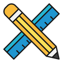 Ruler Pen Pencil Icon