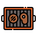 Grill Burger Meat Icon