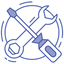Tech Tool Wrench And Screwdriver Mechanical Tool Icon