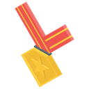 Gold Medal Performance Award Sports Medal Icon