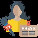Media Reporter Icon