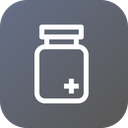 Medical Bottle Plus Icon