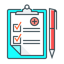 Medical Records Diagnosis Document Icon