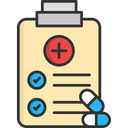 A Prescription Medical Report Virus Report Icon