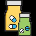 A Capsule Medicne Bottle Casule Bottle Icon