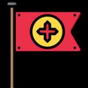 Medieval Flag Kingdom Flag Icon