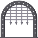 Medieval Gate Defense Safety Gate Icon