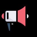 Network Communication Megaphone Icon