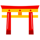 Meiji Jingu Shrine Tokyo City Icon