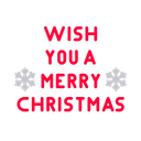 Merry Christmas Greeting Icon
