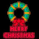 Merry Christmas Greeting Icon
