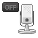 Mic Off Podcast Voice Icon