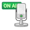 Mic On Air Podcast Voice Icon