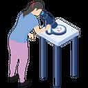 Microscopic Research Lab Experiment Laboratory Test Icon