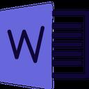 Microsoft Word Technology Logo Social Media Logo Icon