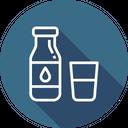 Milk Glass Bottle Icon