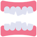 Misplace Teeth Teeth Structure Born Teeth Icon
